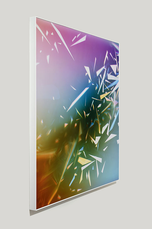 side view of color photogram titled: Advancing Residue
