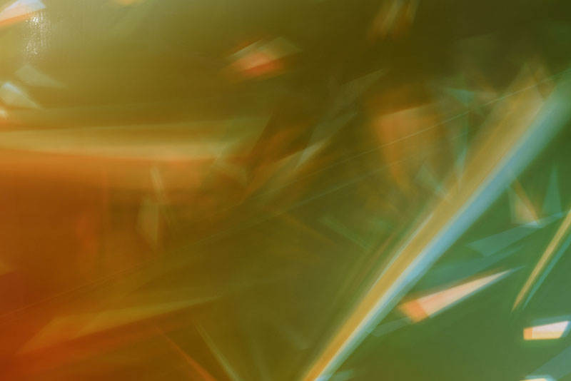 close up detail of color photogram titled: Advancing Residue