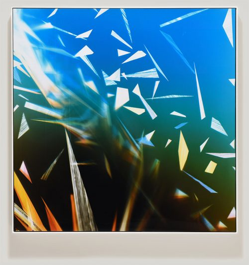 vibrant color photogram titled: Airless-Weight from the series Precariously Bright