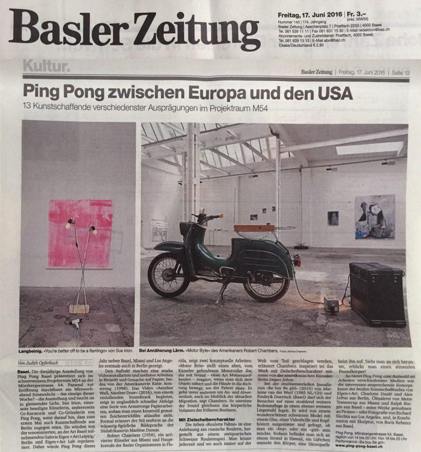 Art Review - Art Basel Projektraum M54