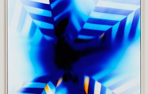 color photogram titled: Boundary Value from the Inherent Trajectories series