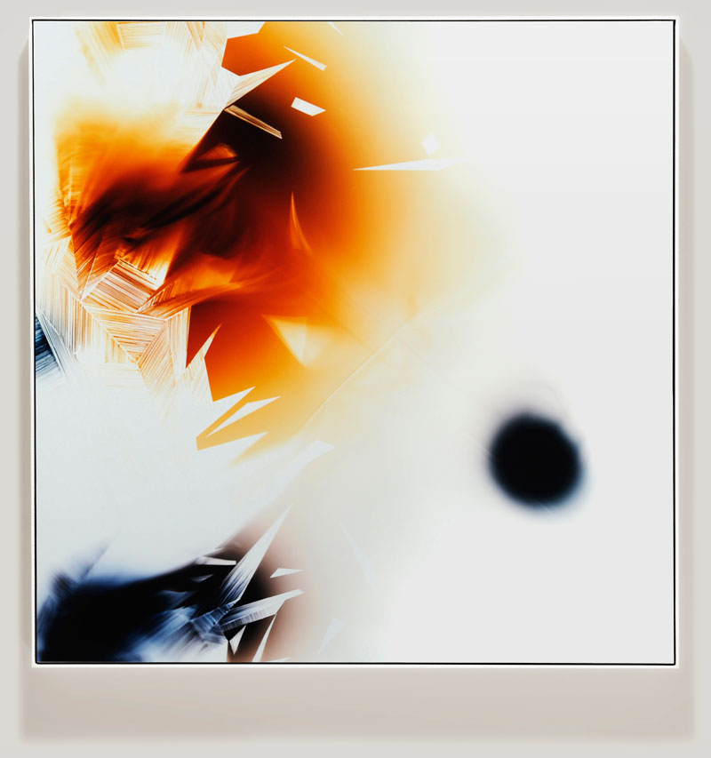 minimalist color photogram titled; Buoyancy Center by artist Richard Slechta