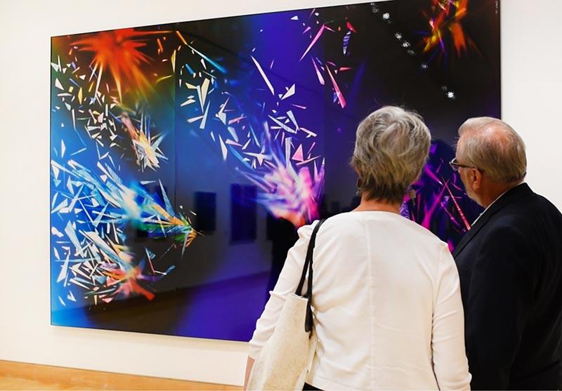 Exhibition of Richard Slechta's photograms at California Center for the Arts Escondido