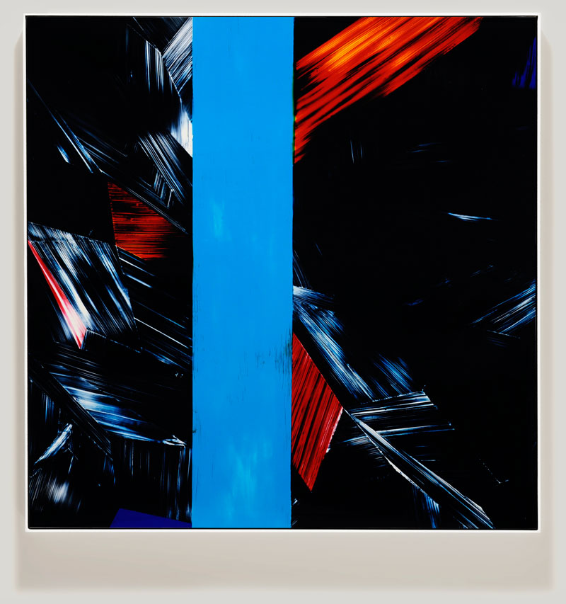 color photogram titled; Congested Concourse by artist Richard Slechta