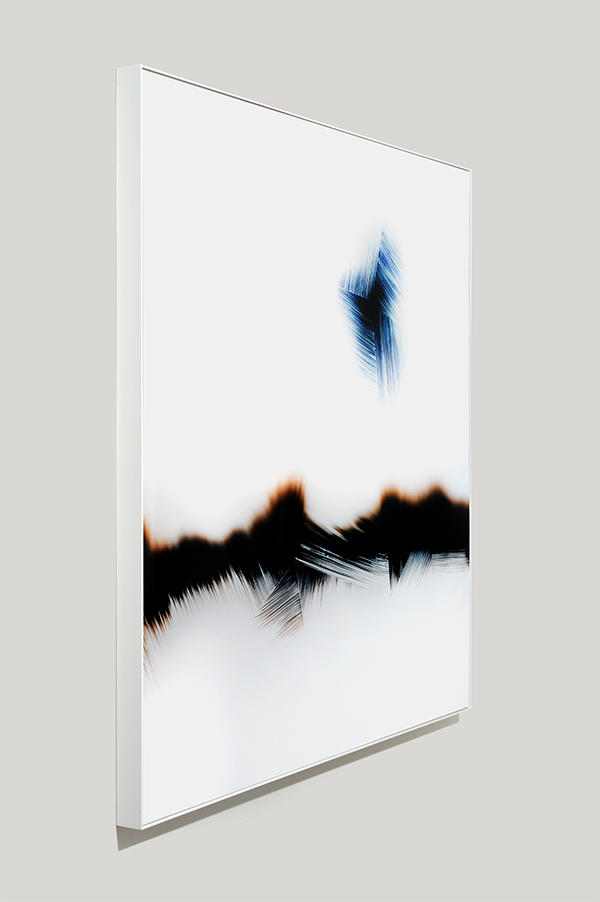framed color photogram, Critical Superposition