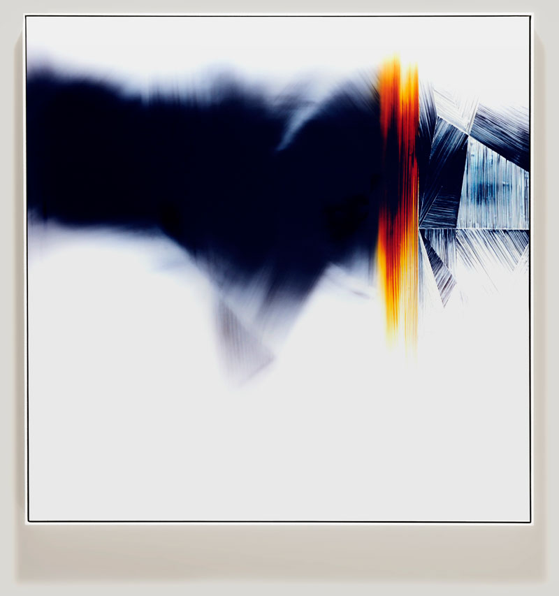 minimalist color photogram titled; Disrupted Polarization by artist Richard Slechta