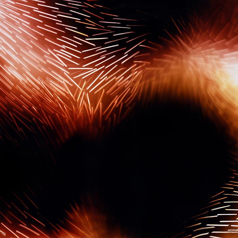 color Photogram, titled Eddy Current by lighting artist Richard Slechta