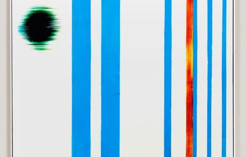 color photogram titled; Elegant Currency by artist Richard Slechta