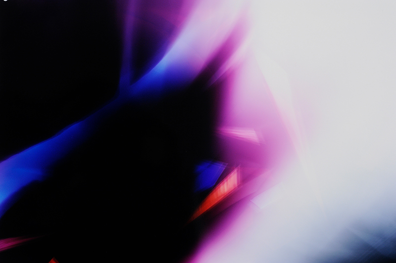 close-up detail of color photogram titled: Equivocal Intersection from the Cascades Series