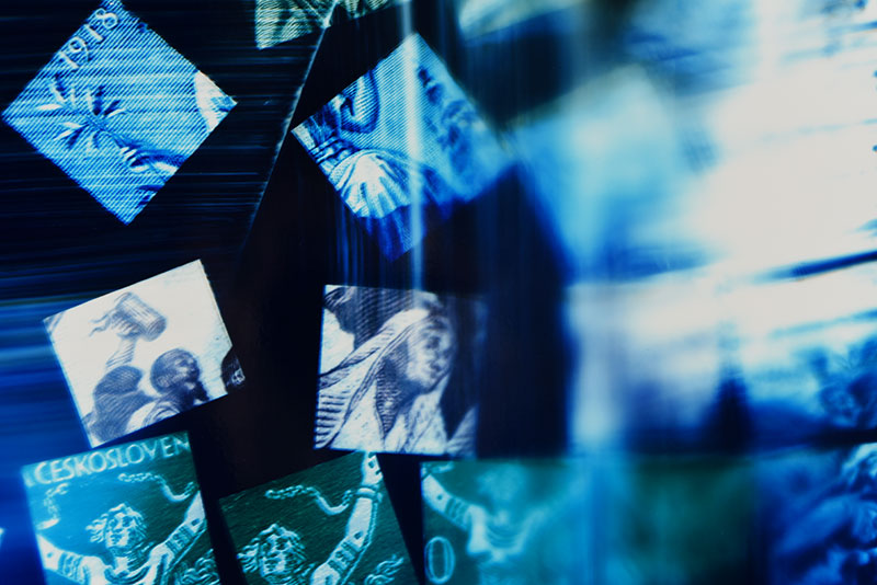 Close up detail of Color photogram titled: Ether Of The Homeland