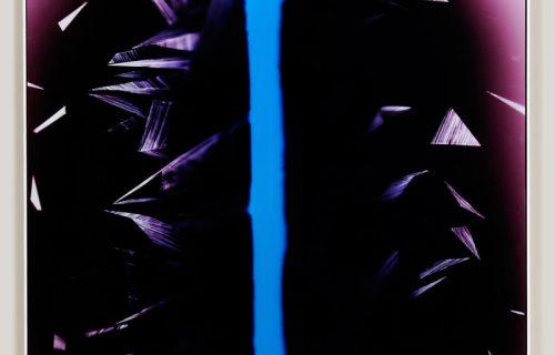 minimalist color photogram titled; Hard Boiled Neutrality by artist Richard Slechta