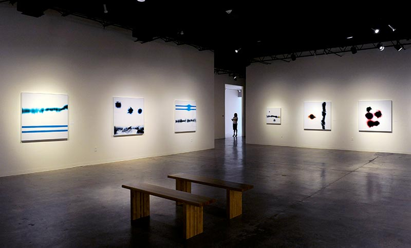 Exhibition of Richard Slechta's photograms at Museum of Art and Science, TX