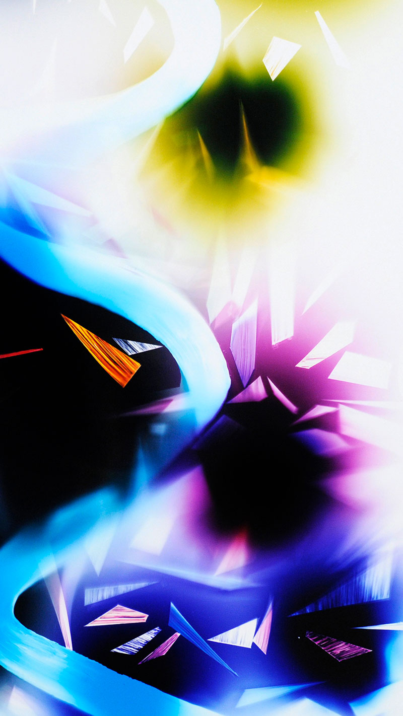 close-up detail of color photogram titled: Inflection Point from the Cascades Series