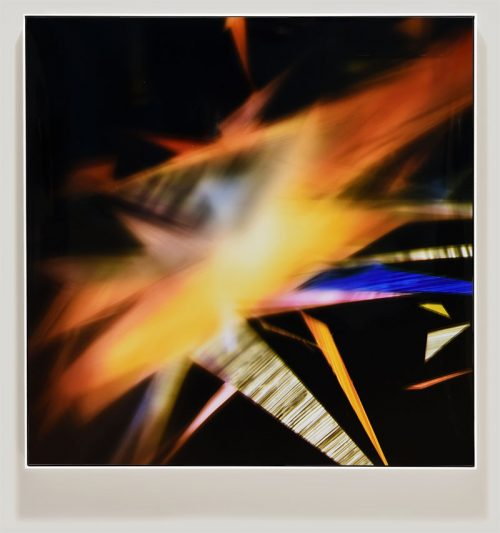 color photogram titled: Involuntary Orbit