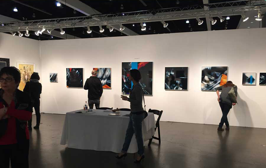 LA Art Show 2016 featuring Slechta's color photograms