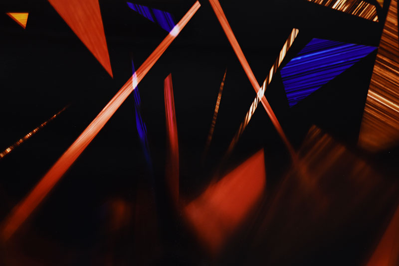 close up detail of color photogram titled: New Allegiance
