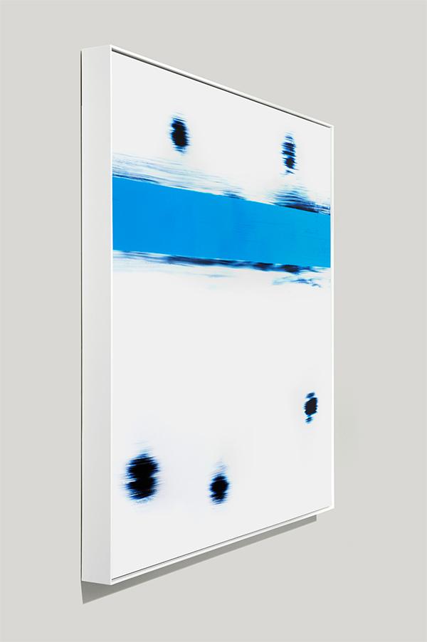framed color photogram, No More
