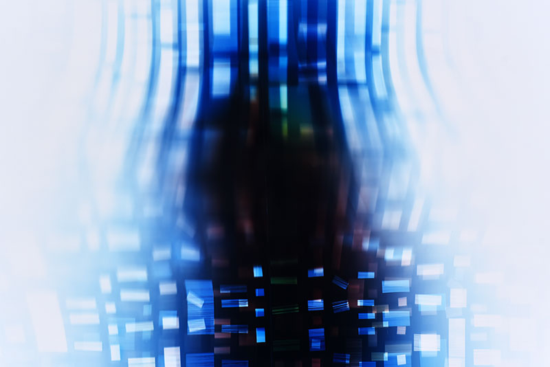 color Photogram detail, titled Nuanced Discontinuity by lighting artist Richard Slechta