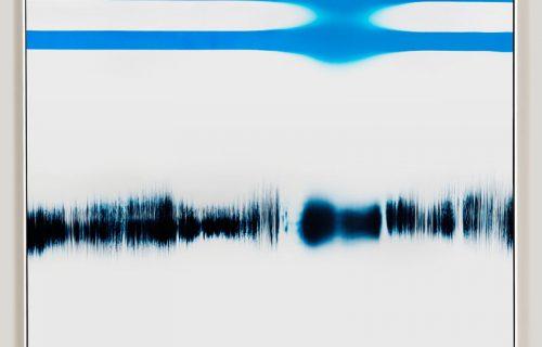 minimalist color photogram titled; Optimal Inflection by artist Richard Slechta