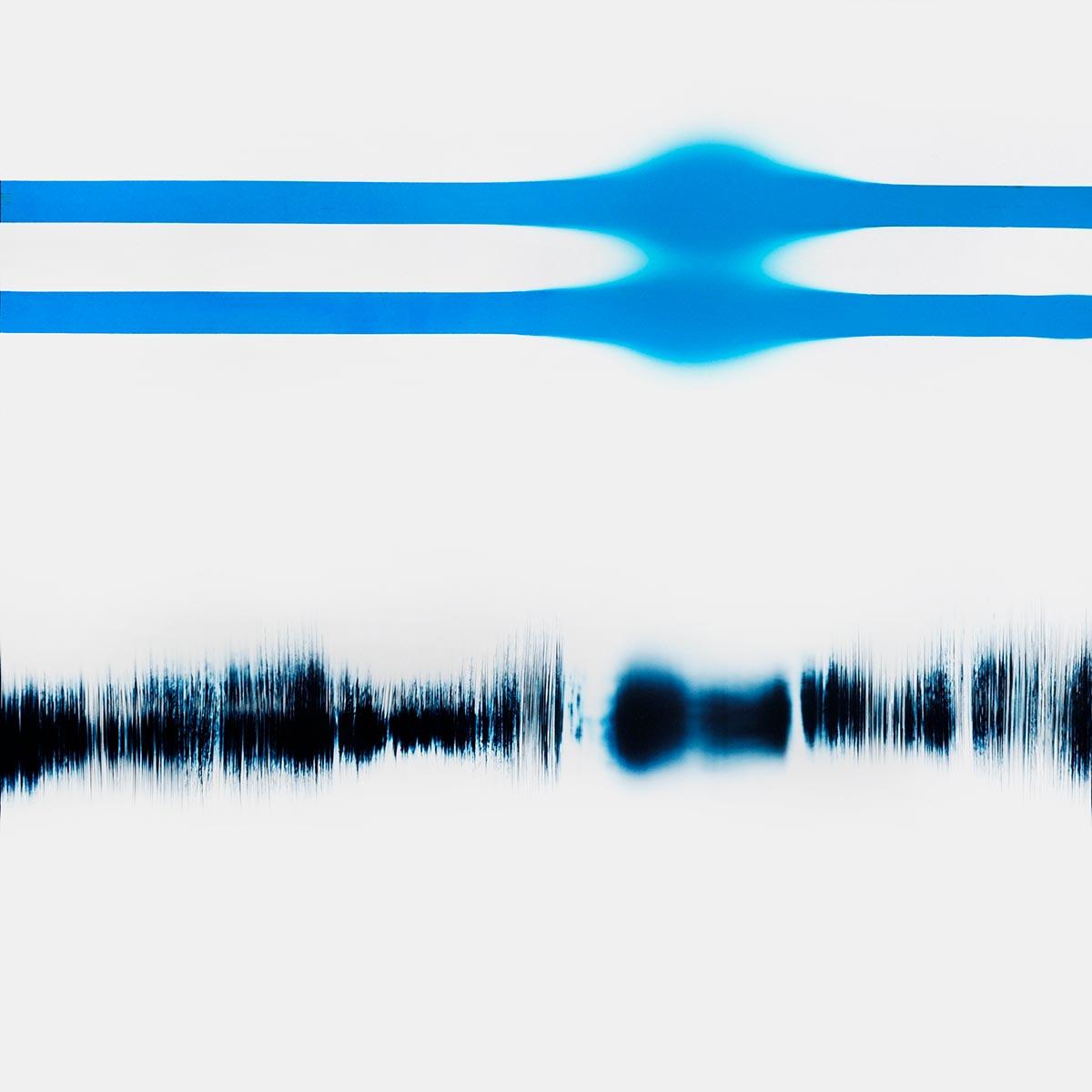 minimalist color photogram titled: Optimal Inflection, by artist Richard Slechta