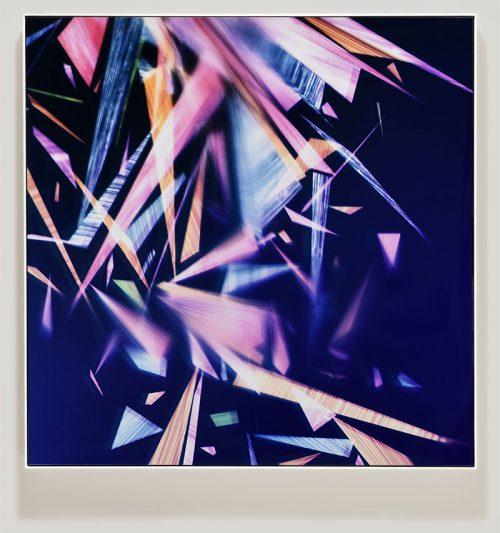 Framed color photogram titled: Paragon En Masse