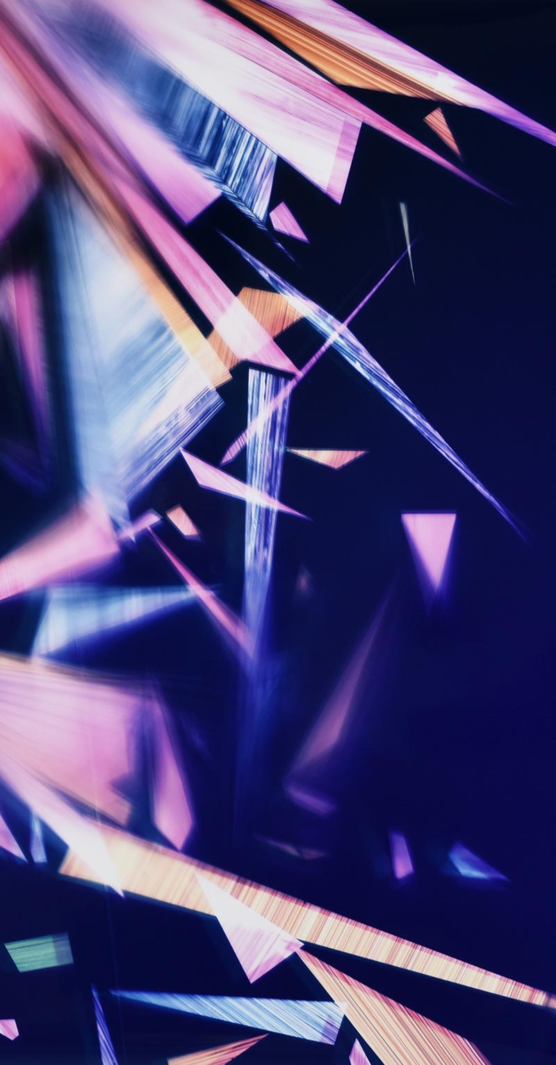 close up detail of color photogram titled: Paragon En Masse