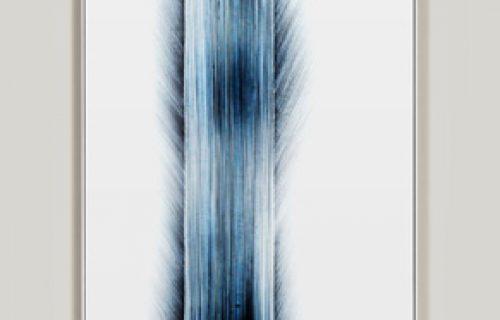 minimalist color photogram titled: Idling The Fringe, by artist Richard Slechta