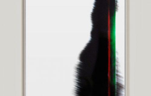 minimalist color photogram titled: Left Behind, by artist Richard Slechta