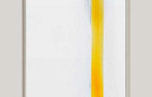 minimalist color photogram titled: Moving Weight, by artist Richard Slechta