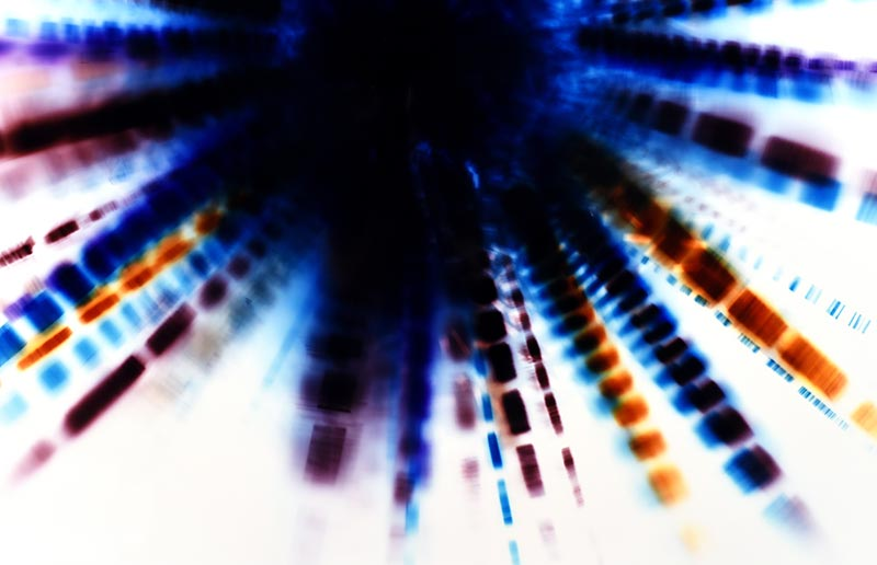 color Photogram, detail image, titled Piston Effect by lighting artist Richard Slechta