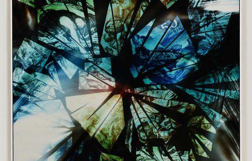 color photogram titled: Plentiful Abundance
