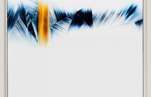 minimalist color photogram titled; Plumb Rule by artist Richard Slechta