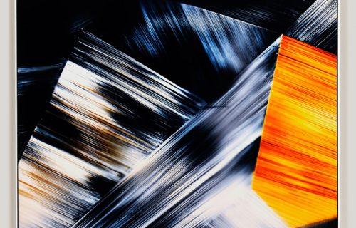 color photogram titled; Potential Entanglement by artist Richard Slechta