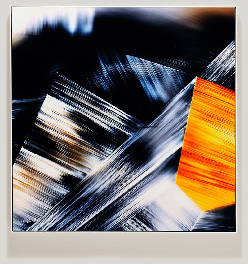 color photogram titled; Potential Entanglement by artist Richard Slechta