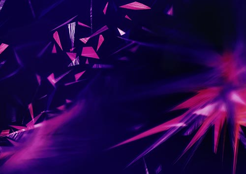 Awash in violet and magenta