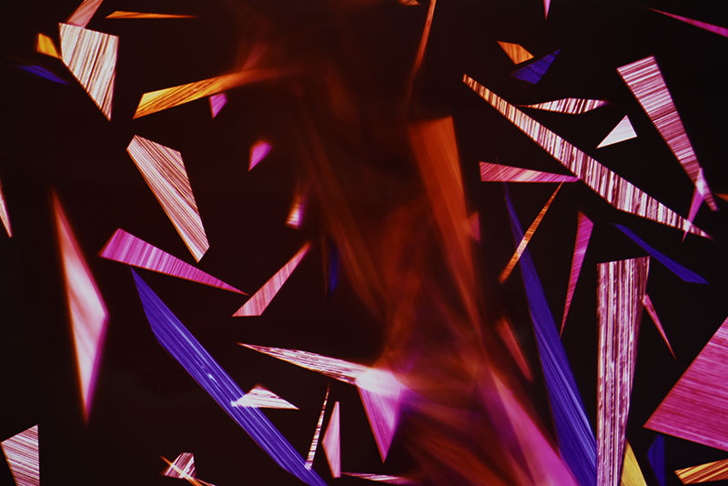detail of color photogram titled: Primordial Sobriety from the series Precariously Bright