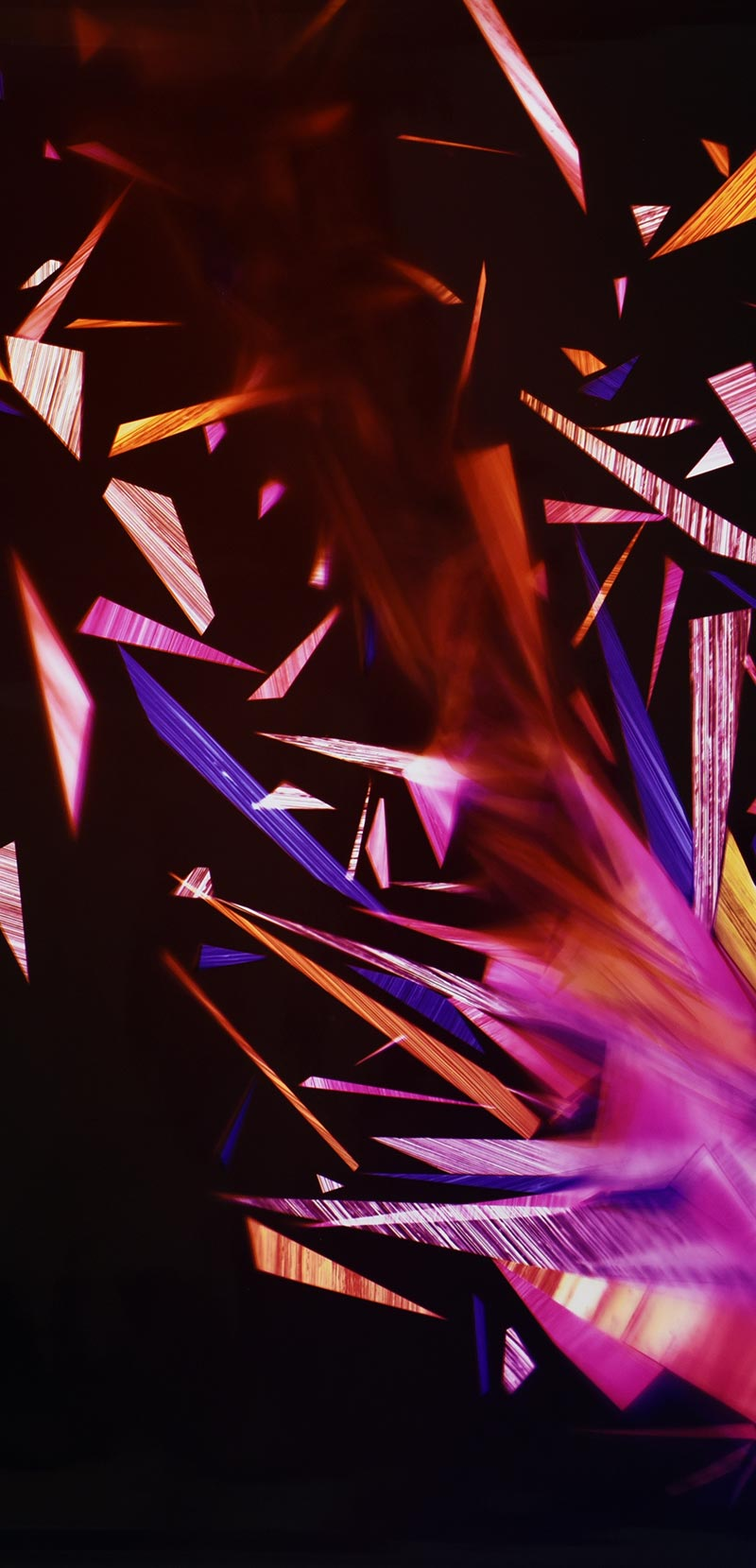 close up detail of color photogram titled: Primordial Sobriety from the series Precariously Bright