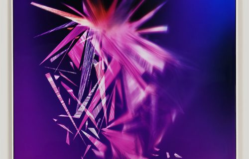 Abstract color photogram titled: Reciprocal Ablation from the series Precariously Bright