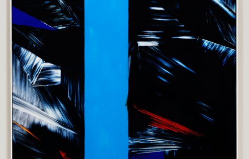 color photogram titled; Reciprocal Commission by artist Richard Slechta