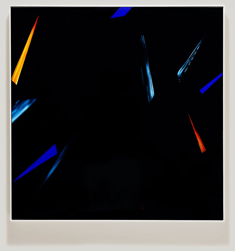 color photogram titled; Recognition Point by artist Richard Slechta