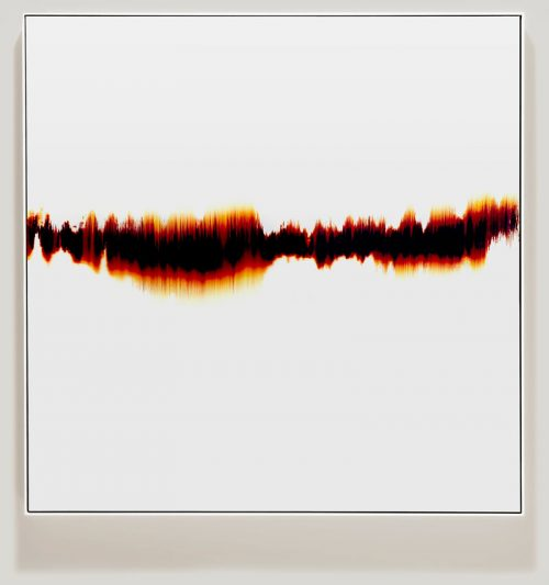 minimalist color photogram titled; Reiterative Leaning by artist Richard Slechta