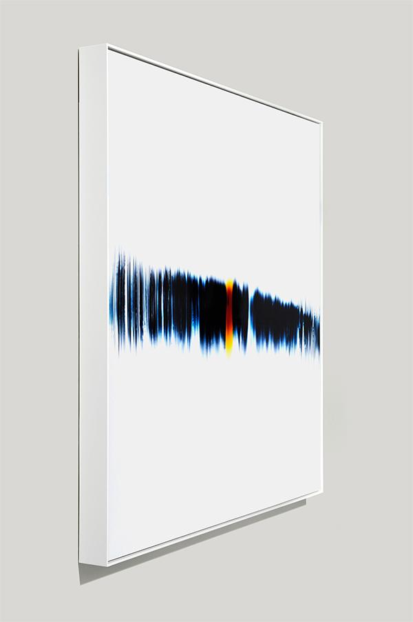 framed color photogram, Rewind Breakage
