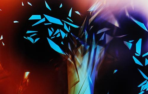 Abstract Color photogram titled: Rising Intonation from the Cascades Series