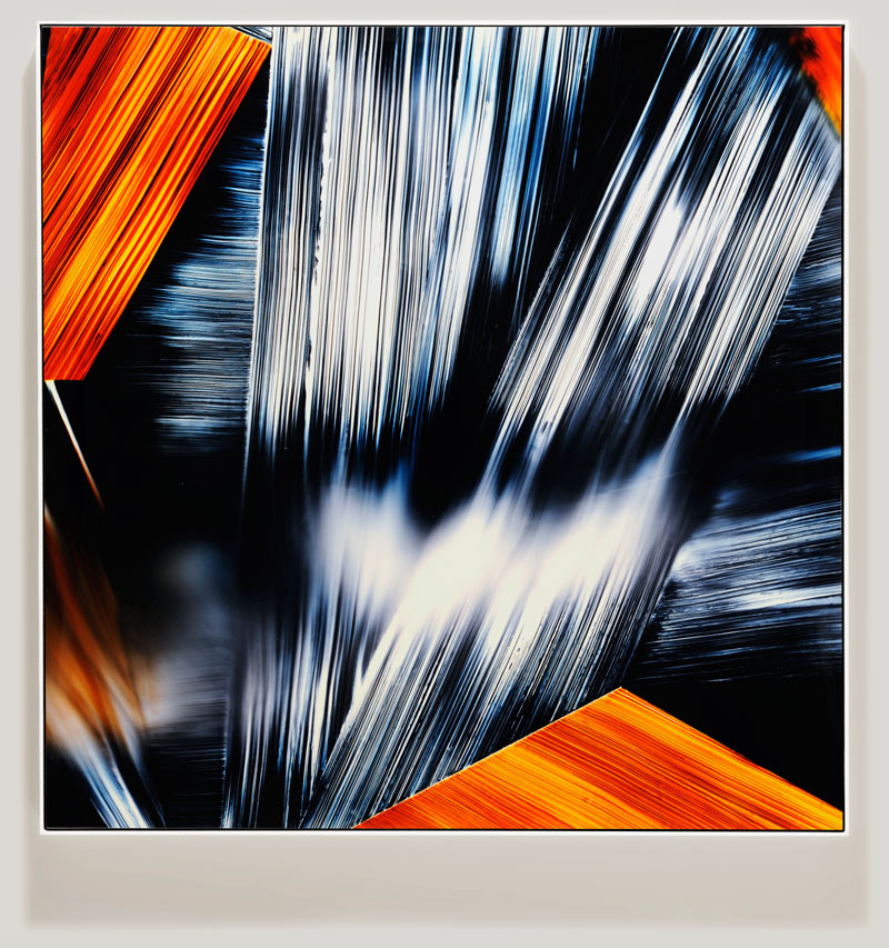 color photogram titled; Roused Spasm by artist Richard Slechta