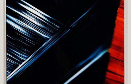 Framed color photogram titled, Saccharine Obligations
