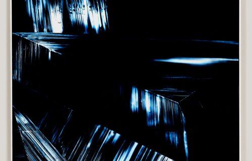 color photogram titled; Sensitive Configurations by artist Richard Slechta