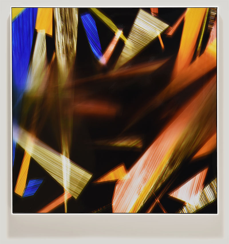 abstract color photogram titled: Sentimentality Repellent from the series Precariously Bright