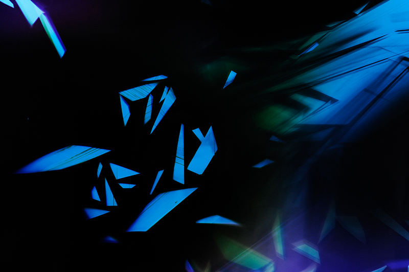 close-up detail of color photogram titled: Sheer Amplification from the Cascades Series