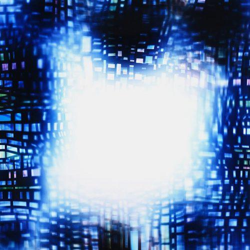 Photogram: Squeezability Cipher by lighting artist richard slechta