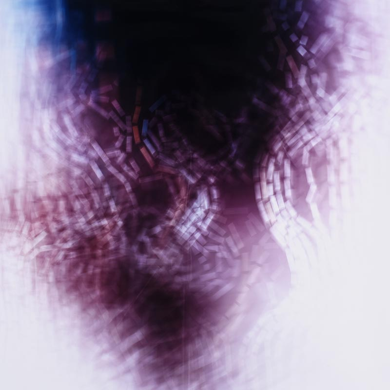 color Photogram, titled Stasis Dissipation by lighting artist Richard Slechta